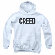 Creed Kids Hoodie Cracked Logo White Youth Hoody