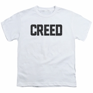 Creed Kids Shirt Cracked Logo White T-Shirt
