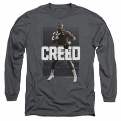 Creed Long Sleeve Shirt Adonis Johnson Final Round Charcoal Tee T-Shirt