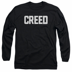 Creed Long Sleeve Shirt Cracked Logo Poster Black Tee T-Shirt