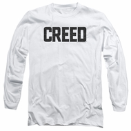 Creed Long Sleeve Shirt Cracked Logo White Tee T-Shirt