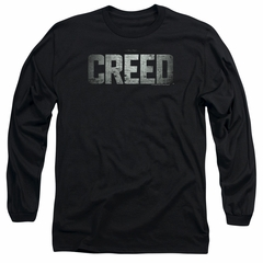 Creed Long Sleeve Shirt Logo Black Tee T-Shirt