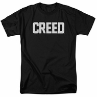 Creed Shirt Cracked Logo Poster Black T-Shirt