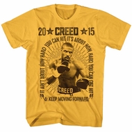 Creed Shirt Keep Moving Forward Gold T-Shirt