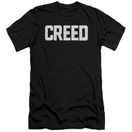 Creed Slim Fit Shirt Cracked Logo Poster Black T-Shirt