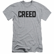 Creed Slim Fit Shirt Cracked Movie Logo Athletic Heather T-Shirt