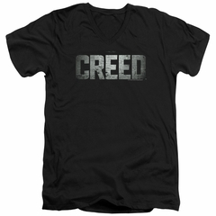 Creed Slim Fit V-Neck Shirt Logo Black T-Shirt