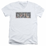 Creed Slim Fit V-Neck Shirt Pep Talk White T-Shirt