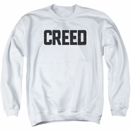 Creed Sweatshirt Cracked Logo Adult White Sweat Shirt