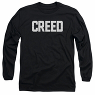Creed Sweatshirt Cracked Logo Poster Adult Black Sweat Shirt