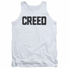 Creed Tank Top Cracked Logo White Tanktop