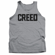 Creed Tank Top Cracked Movie Logo Athletic Heather Tanktop