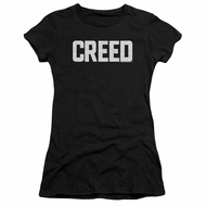 Creed Womens Shirt Cracked Logo Poster Black T-Shirt