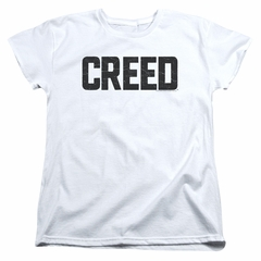 Creed Womens Shirt Cracked Logo White T-Shirt