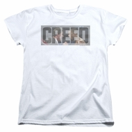 Creed Womens Shirt Pep Talk White T-Shirt