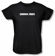Criminal Minds Ladies T-shirt Logo TV Crime Drama Black Tee Shirt