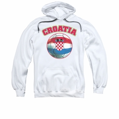 Croatia Soccer Futbol Hoodie Sweatshirt White Adult Hoody Sweat Shirt