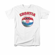 Croatia Soccer Futbol Shirt Adult White Tee T-Shirt