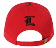 Cross Design Distressed Hat - Lackpard Cap - Red
