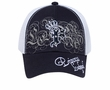 Crowned Princess Hat with Rhinestones - Mesh Back Lackpard Cap - Navy