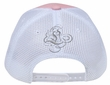 Crowned Princess Hat with Rhinestones - Mesh Back Lackpard Cap - Pink