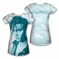 Cry Baby Crying Cloud Sublimation Juniors Shirt Front/Back Print