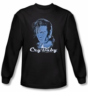 Cry Baby Long Sleeve T-shirt Movie King Cry Baby Black Tee Shirt