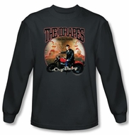 Cry Baby Long Sleeve T-shirt Movie The Drapes Charcoal Tee Shirt