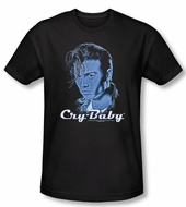 Cry Baby Slim Fit T-shirt Movie King Cry Baby Adult Black Tee Shirt