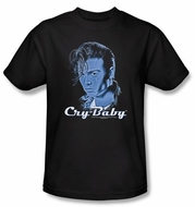 Cry Baby T-shirt Movie King Cry Baby Adult Black Tee Shirt