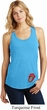 Crystal Tongue Patch Bottom Print Ladies Racerback Tank Top