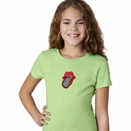 Crystal Tongue Patch Kids Middle Print Shirts