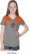 Crystal Tongue Patch Middle Print Girls Football Shirt