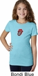 Crystal Tongue Patch Middle Print Girls Shirt