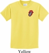 Crystal Tongue Patch Pocket Print Kids Shirt