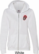 Crystal Tongue Patch Pocket Print Ladies Full Zip Hoodie