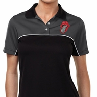 Crystal Tongue Patch Pocket Print Ladies Polo Shirt