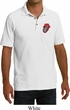 Crystal Tongue Patch Pocket Print Mens Pique Polo Shirt