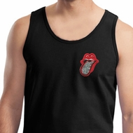 Crystal Tongue Patch Pocket Print Mens Tank Top