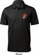 Crystal Tongue Patch Pocket Print Mens Textured Polo Shirt
