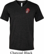 Crystal Tongue Patch Pocket Print Mens Tri Blend V-neck Shirt