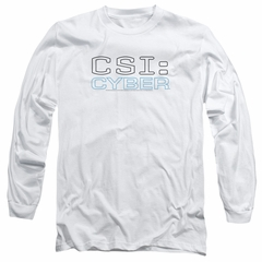 CSI Cyber Shirt The Logo Long Sleeve White Tee T-Shirt