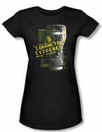 CSI Juniors T-shirt I Drank The Evidence Girly Black Tee