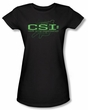 CSI Juniors T-shirt Sketchy Shadow Girly Black Tee