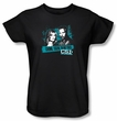 CSI Ladies T-shirt Cross The Line Black Tee