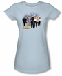 CSI Shirt Miami Cast Juniors Light Blue Tee Shirt