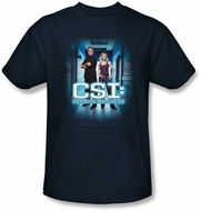 CSI Shirt Serious Business Youth Kids Navy Tee