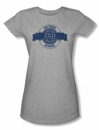 CSI Shirt Vegas Badge Juniors Athletic Heather Tee