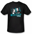 CSI T-shirt - Cross The Line Adult Black Tee