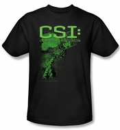 CSI T-shirt - Evidence Adult Black Tee